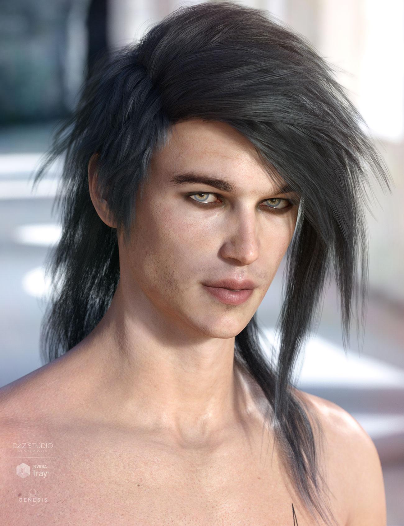 Bastien Hair for Genesis 3 & 8 Male(s) by: AprilYSH, 3D Models by Daz 3D
