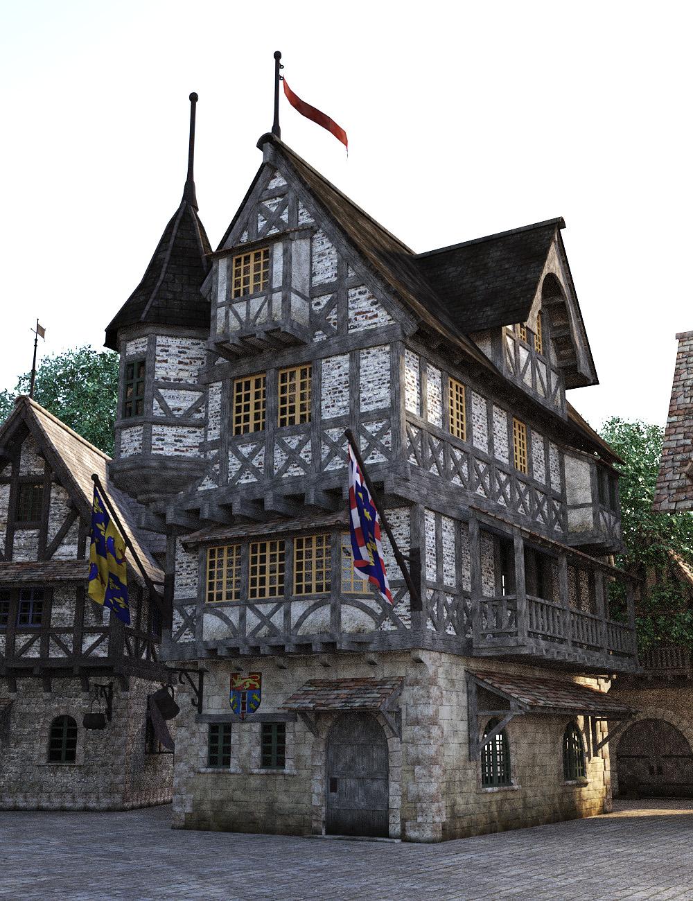 Modular Medieval Village by: Faveral, 3D Models by Daz 3D