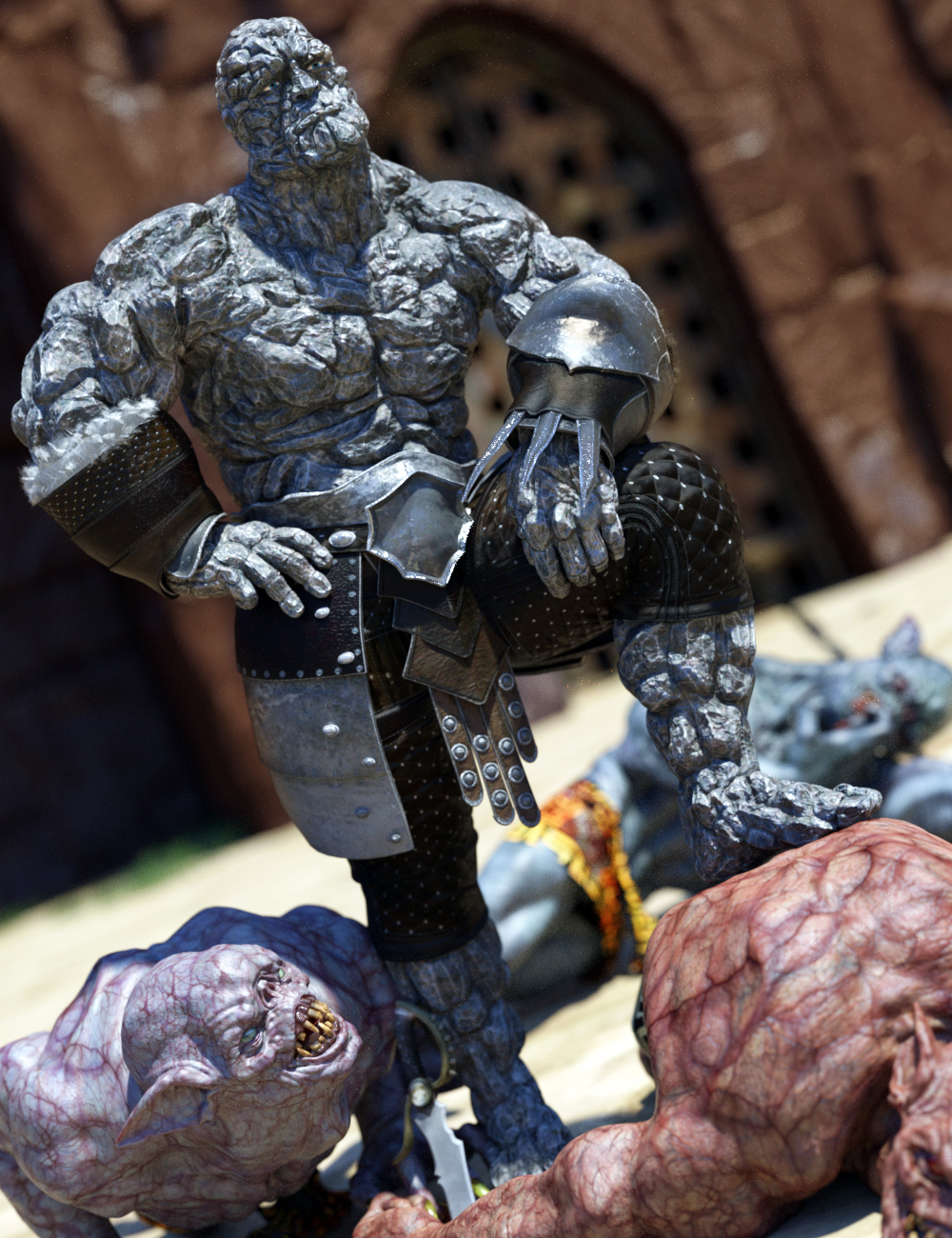 Mr Rubble HD for Brute 8 by: JoeQuick, 3D Models by Daz 3D