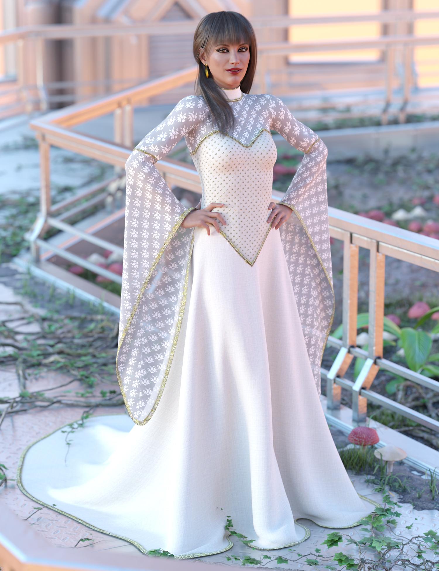 dForce Universal Dress for Genesis 8 Female(s) by: Ravenhair, 3D Models by Daz 3D