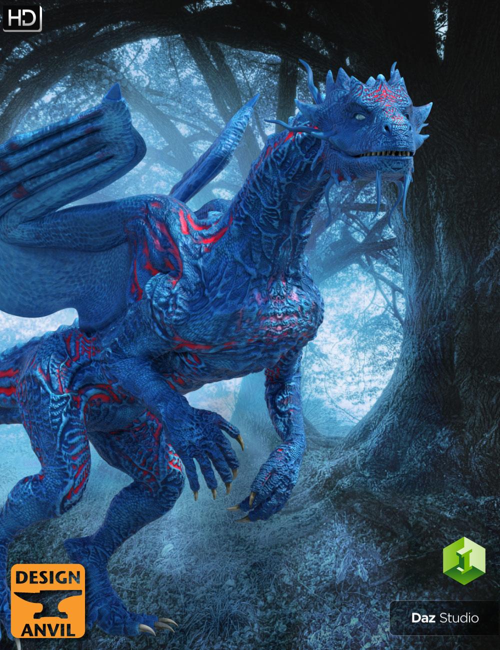 DA Blue Dragon HD for Daz Dragon 3 by: Design Anvil, 3D Models by Daz 3D