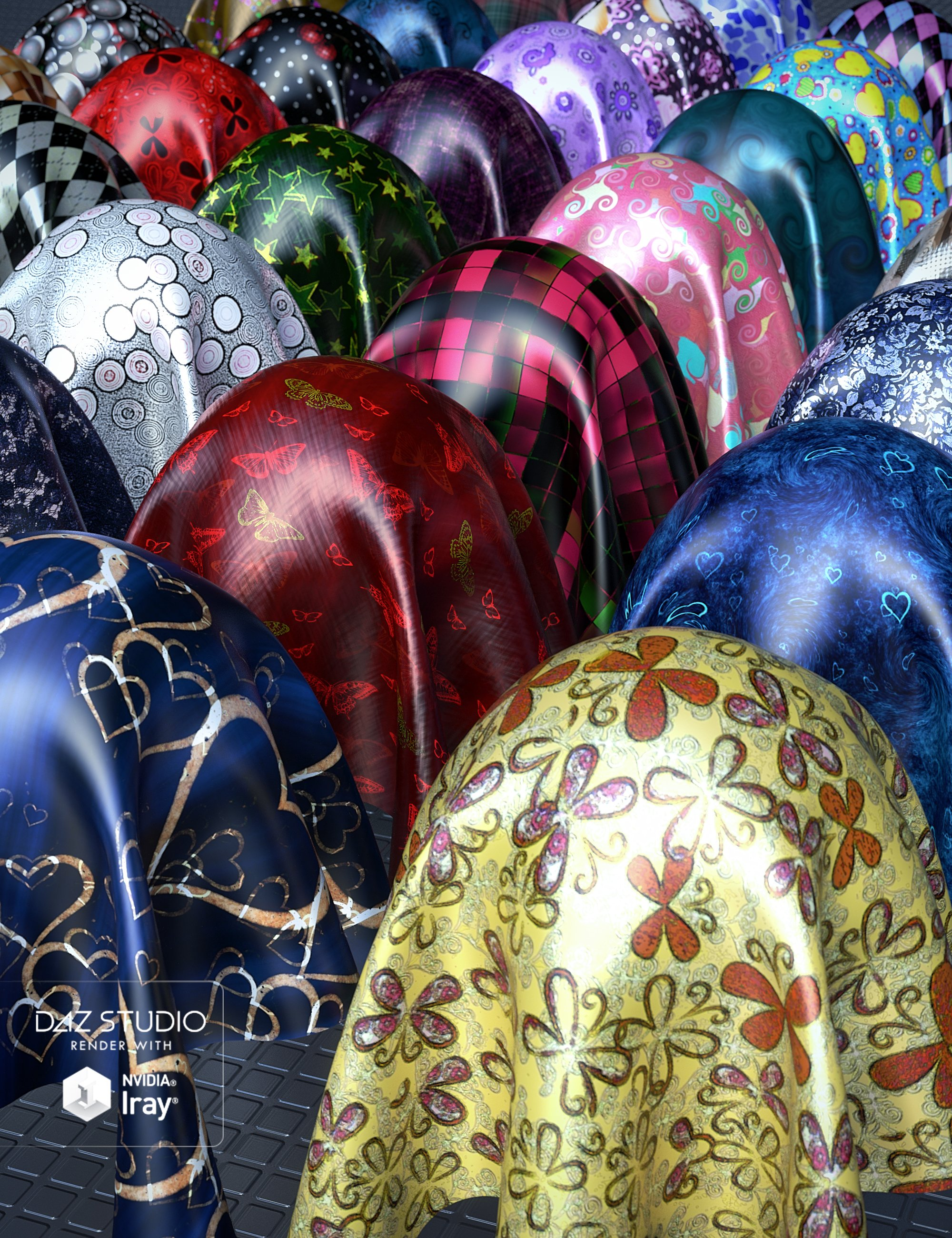 Fun Silk Iray Shaders by: JGreenleesKayjay, 3D Models by Daz 3D