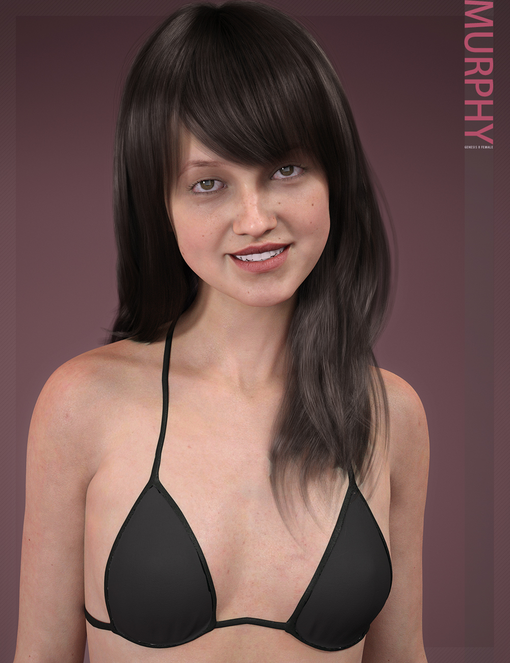 Murphy HD & Signature Smile HD Expression for Genesis 8 Female by: bluejaunte, 3D Models by Daz 3D
