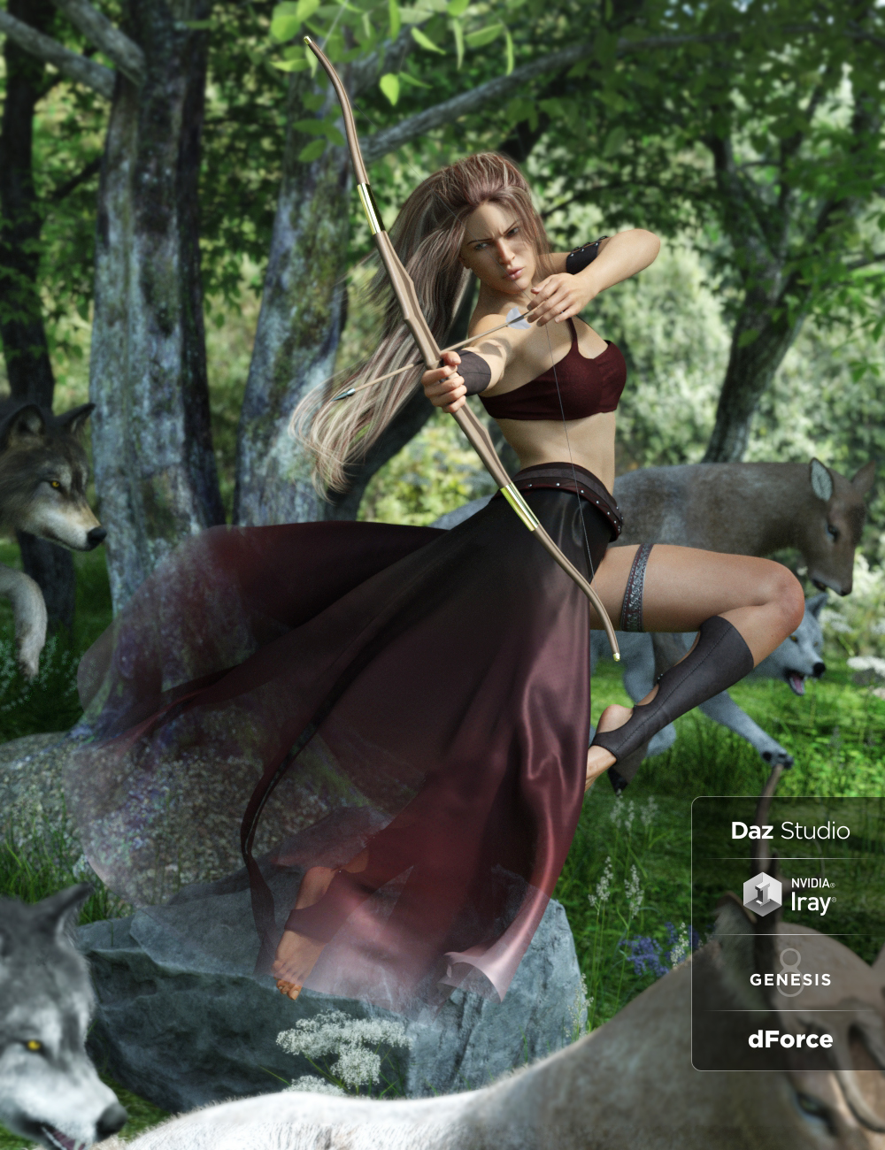 dForce Artemis Outfit for Genesis 8 Female(s) by: CynderBlue, 3D Models by Daz 3D
