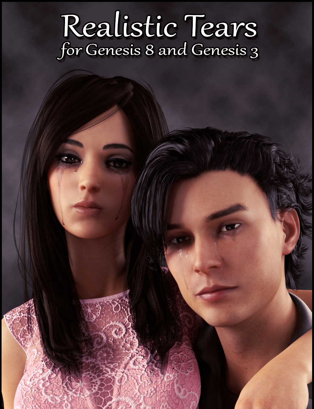 Realistic Tears for Genesis 8 and Genesis 3 by: Falco, 3D Models by Daz 3D