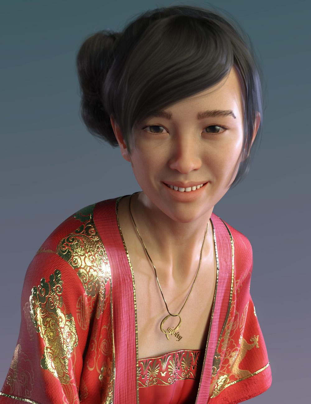 QX Eu-meh for Mei Lin 8 by: Quixotry, 3D Models by Daz 3D