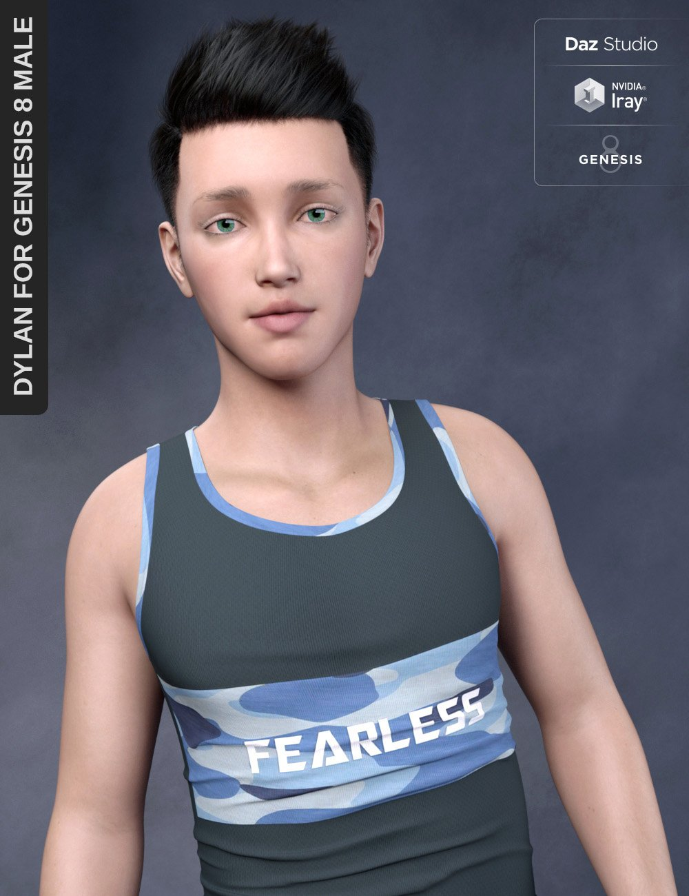 Dylan for Genesis 8 Male by: SF-Design, 3D Models by Daz 3D