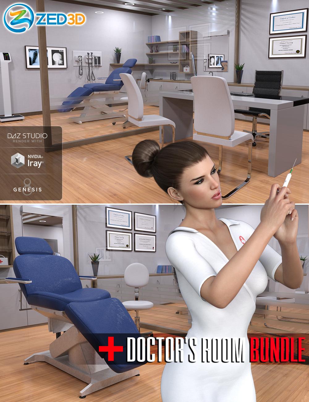 Z Doctor's Room Bundle by: Zeddicuss, 3D Models by Daz 3D