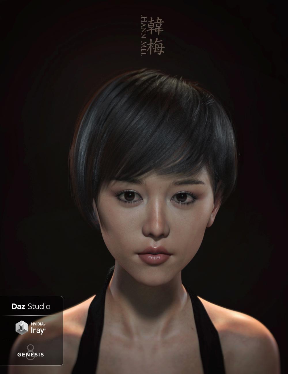 Hann Mei and Hann Mei Short Hair for Genesis 8 Female by: RareStone, 3D Models by Daz 3D