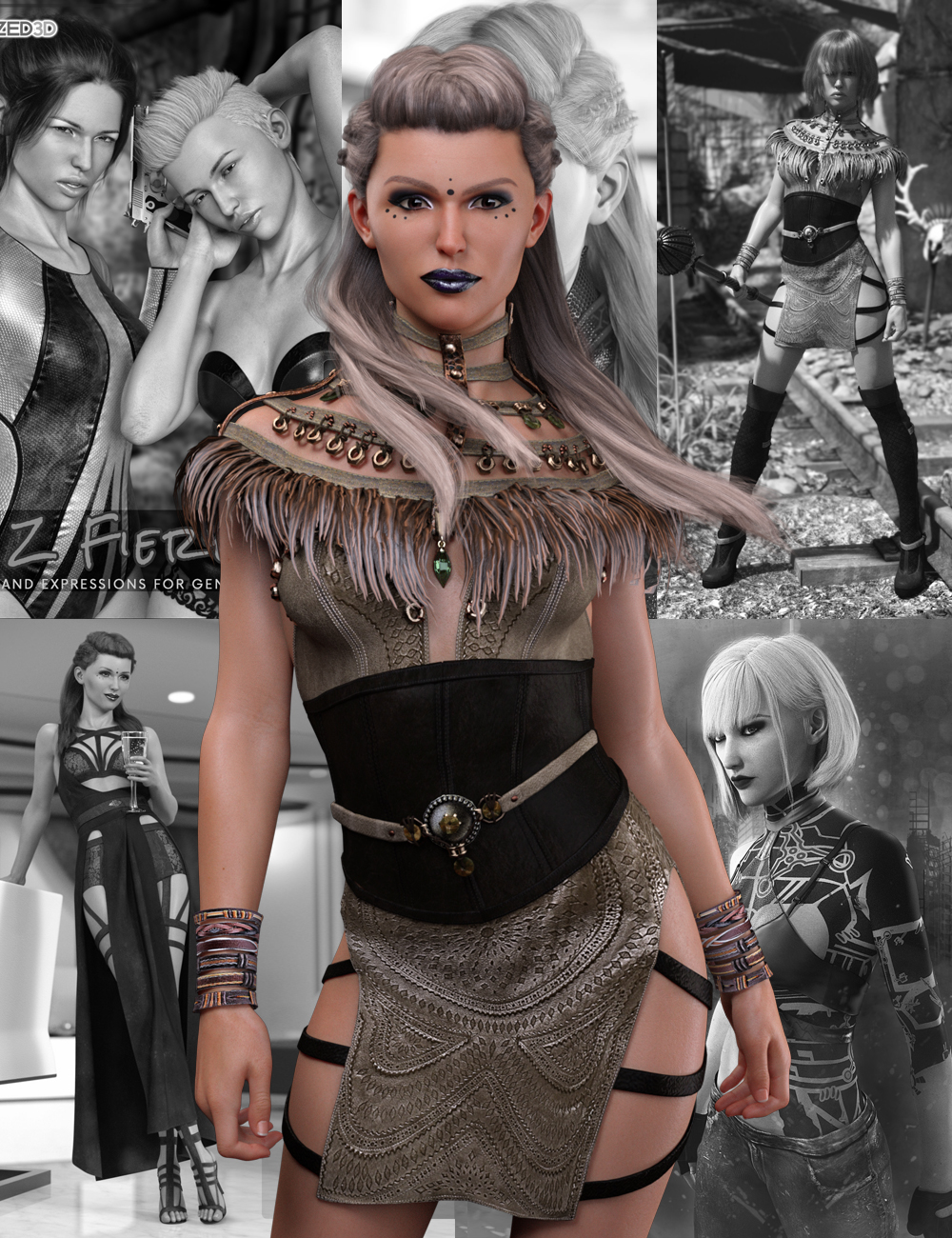 Eva 8 Pro Bundle by: , 3D Models by Daz 3D