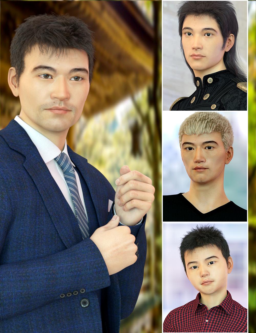 East Asian Men for Genesis 8 Male by: Virtual_World, 3D Models by Daz 3D