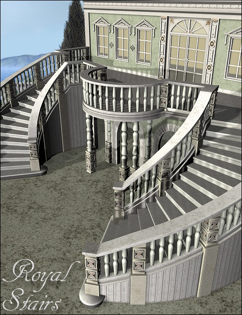 Royal Stairs by: , 3D Models by Daz 3D