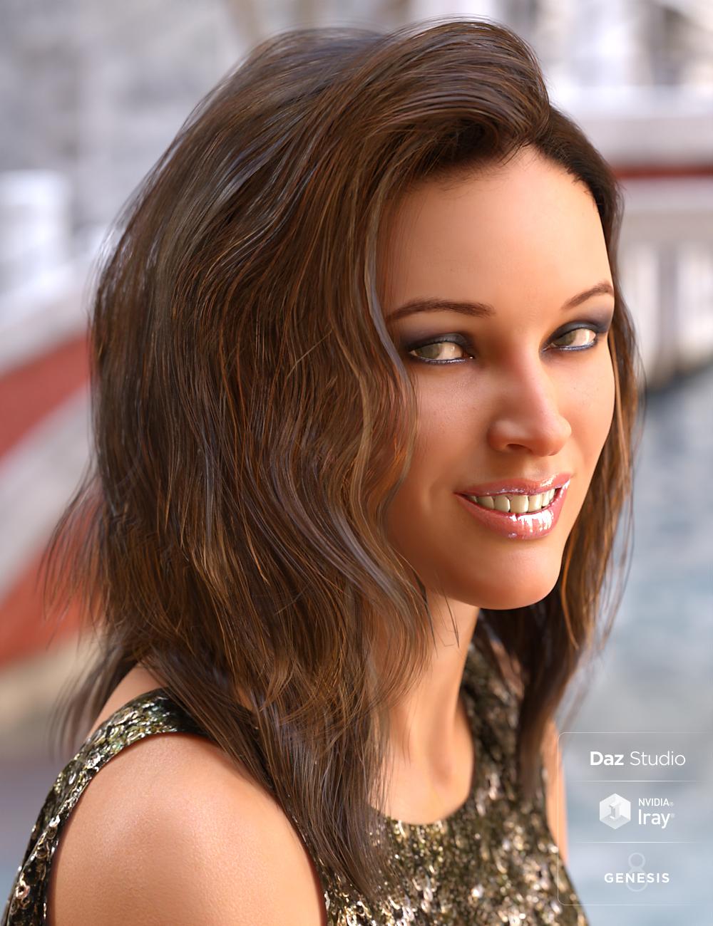 Apex Hair for Genesis 3 & Genesis 8 Female(s) by: goldtassel, 3D Models by Daz 3D