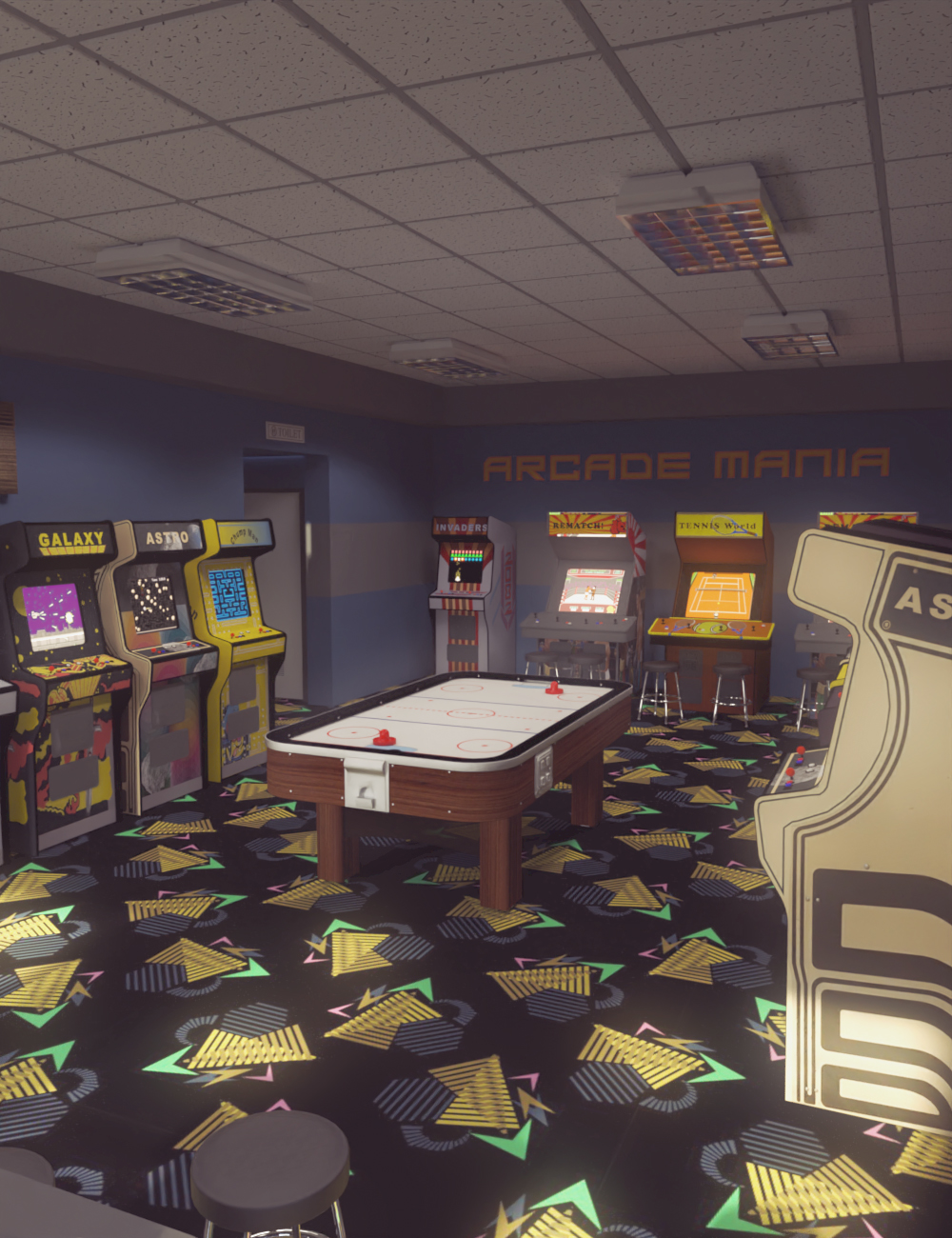 Retro Arcade by: PerspectX, 3D Models by Daz 3D