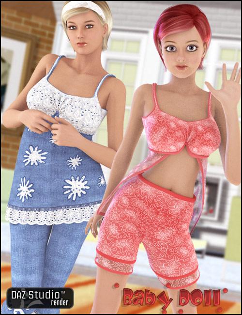 Babydoll by: Barbara BrundonRosetta, 3D Models by Daz 3D