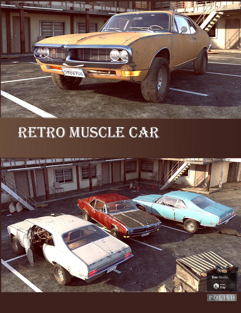 Retro Muscle Car by: Polish, 3D Models by Daz 3D