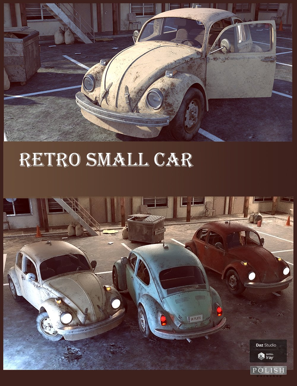 Retro Small Car by: Polish, 3D Models by Daz 3D