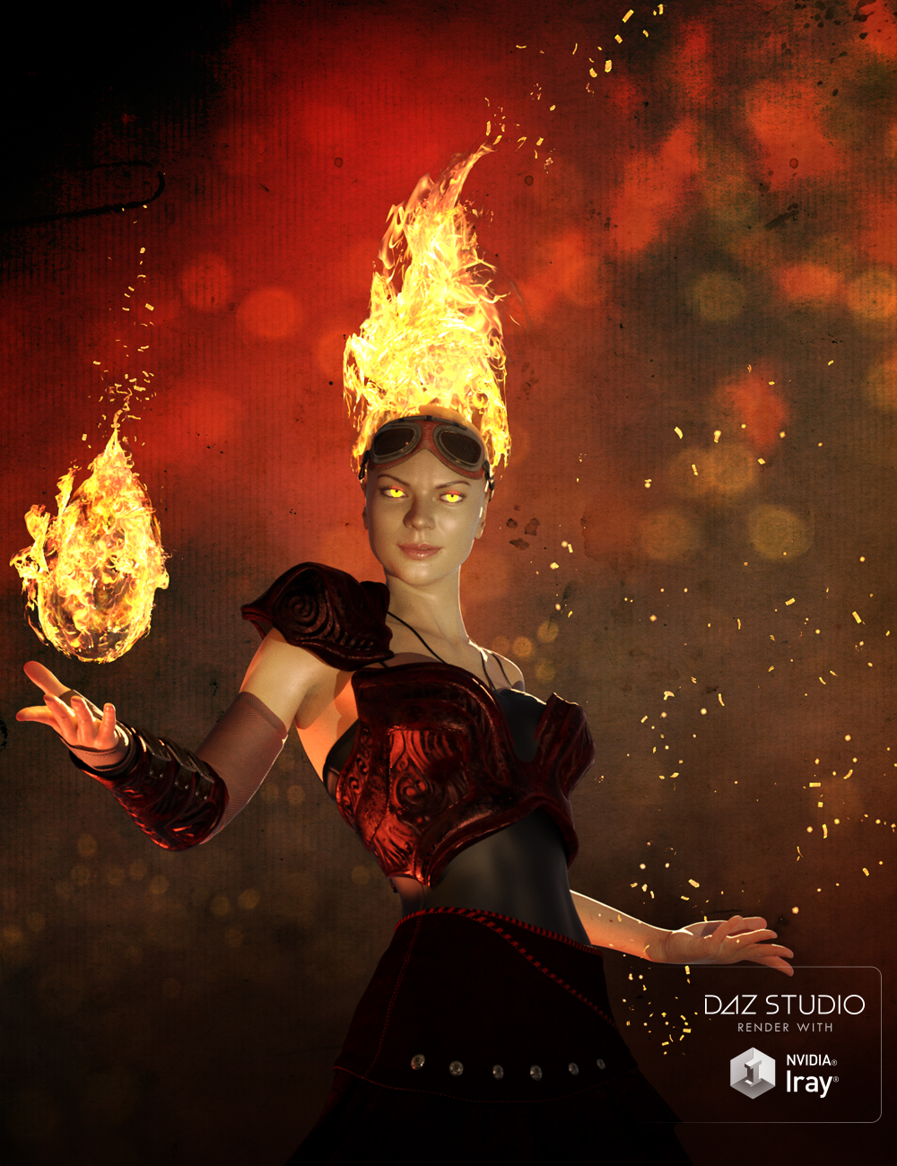 Muelsfell Storm of Magic Iray FX by: E-Arkham, 3D Models by Daz 3D