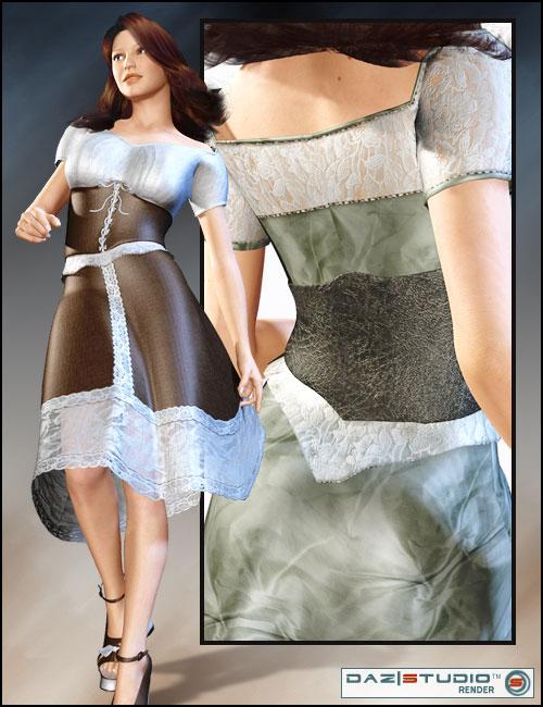Corset Dress by: Barbara BrundonSarsa, 3D Models by Daz 3D