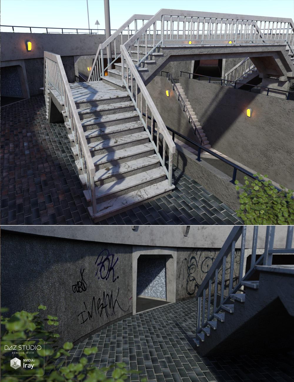 Roundabout Underpass by: David BrinnenForbiddenWhispers, 3D Models by Daz 3D