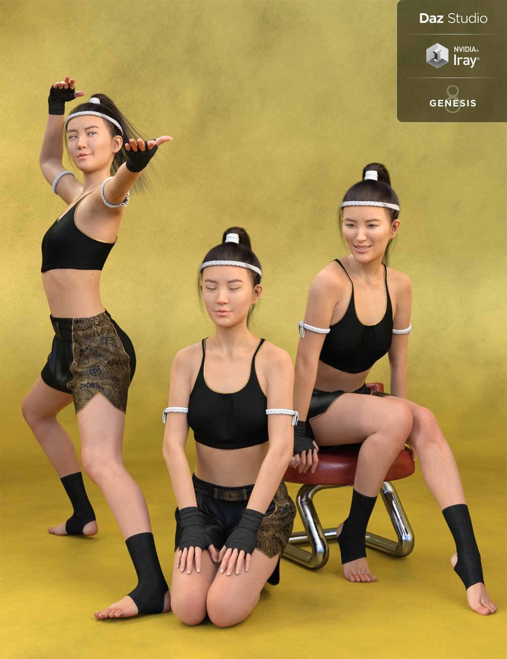 Tai Chi and Everyday Poses and Expressions for Mei Lin 8 and Genesis 8 Female(s) by: Skyewolf, 3D Models by Daz 3D