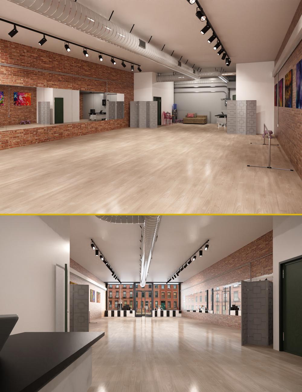 PX Dance Studio by: PerspectX, 3D Models by Daz 3D