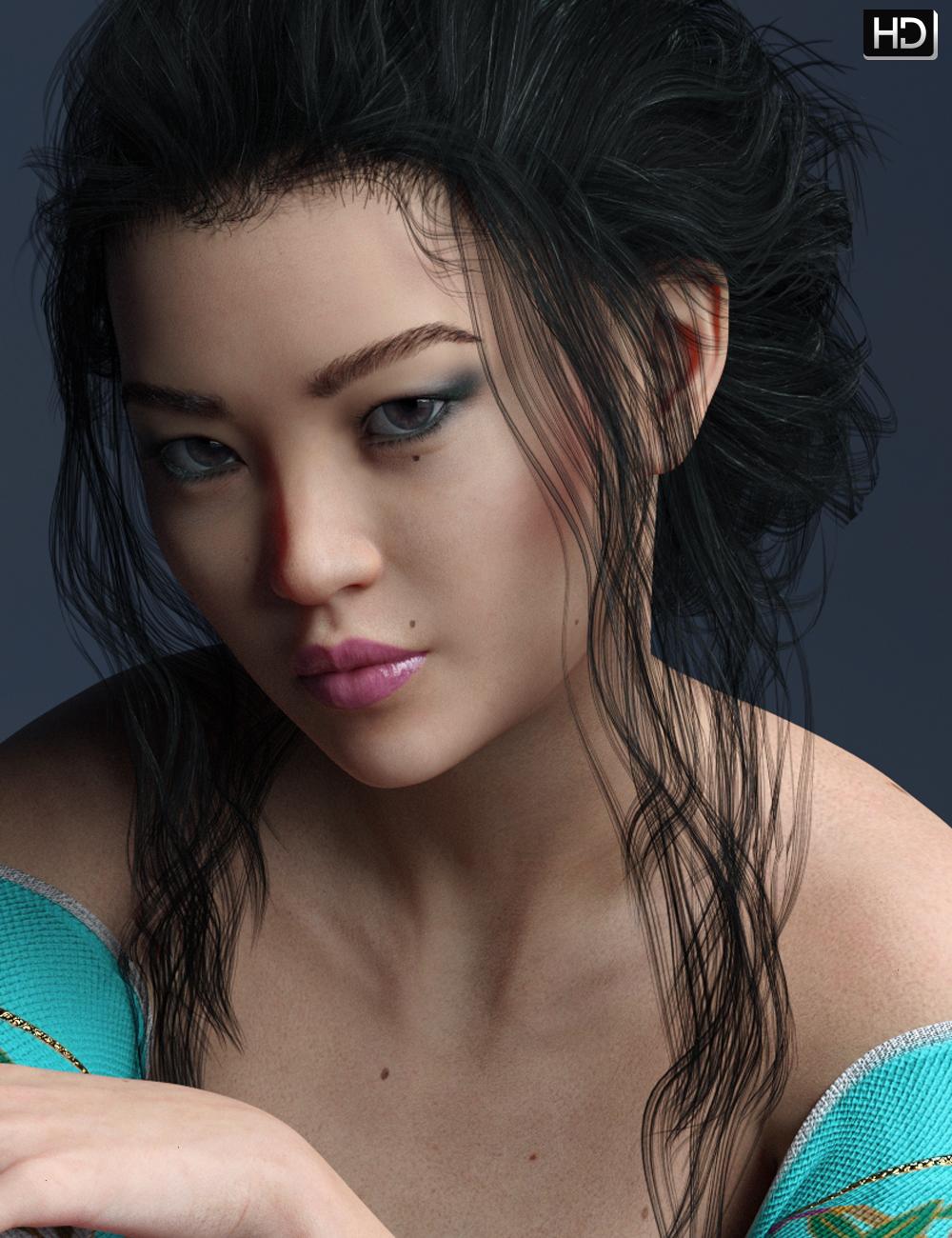 Emiyo HD for Mei Lin 8 by: EmrysFred Winkler Art, 3D Models by Daz 3D