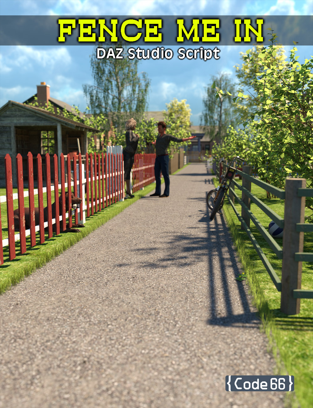 Fence Me In by: Code 66, 3D Models by Daz 3D