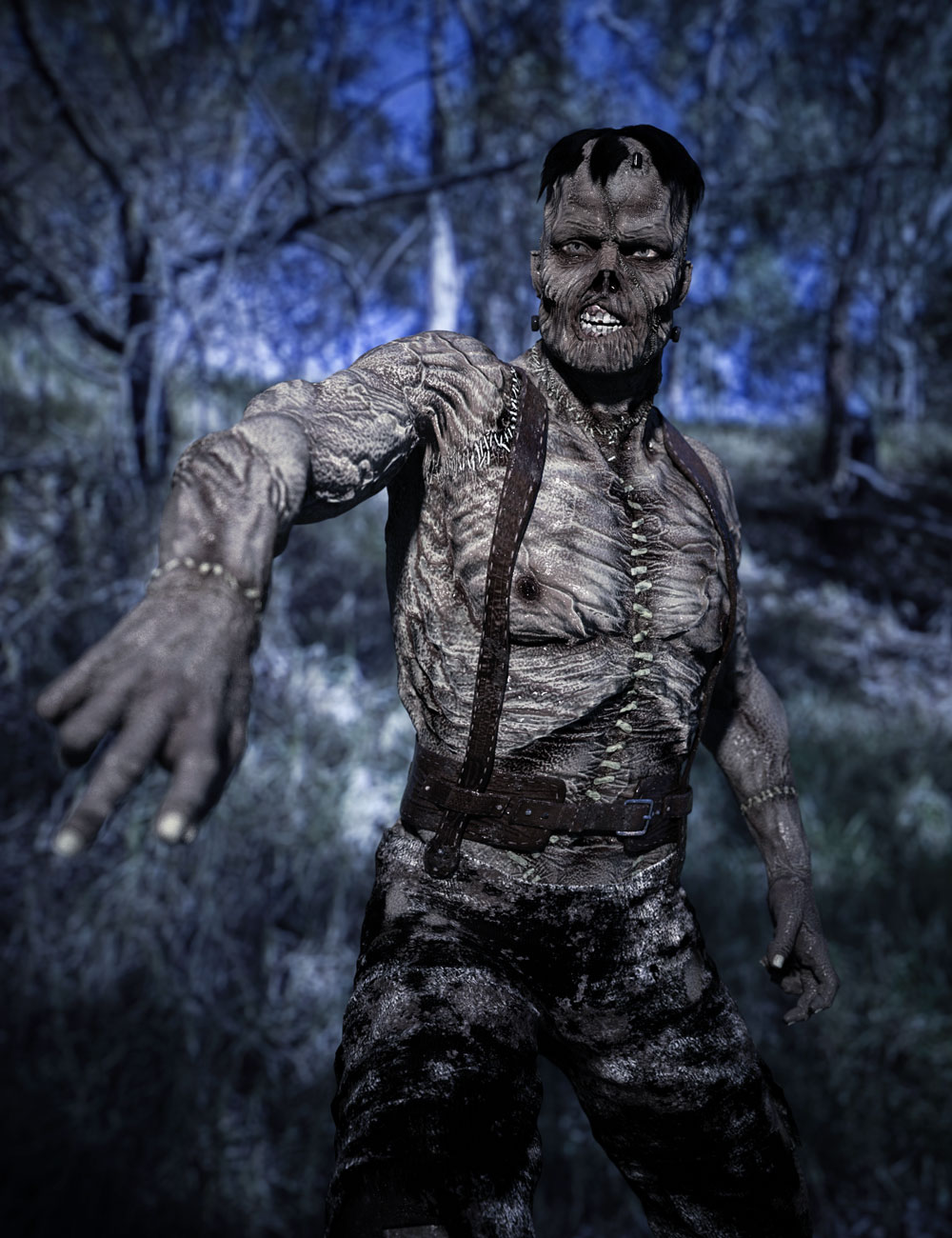 The Monster HD for Genesis 8 Male by: GreybroSixus1 Media, 3D Models by Daz 3D