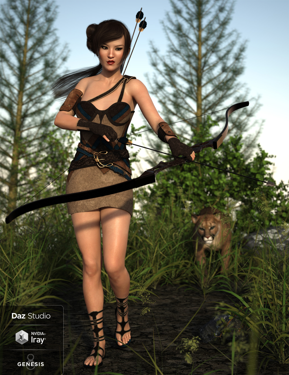 Toxophilite Outfit for Genesis 8 Female(s) by: Barbara BrundonDirtyFairyUmblefugly, 3D Models by Daz 3D