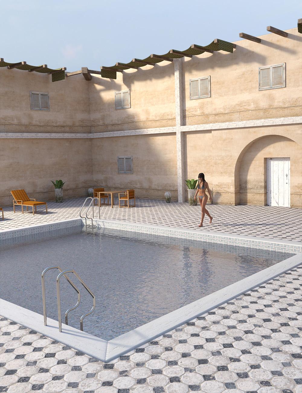 Mediterranean Pool by: , 3D Models by Daz 3D