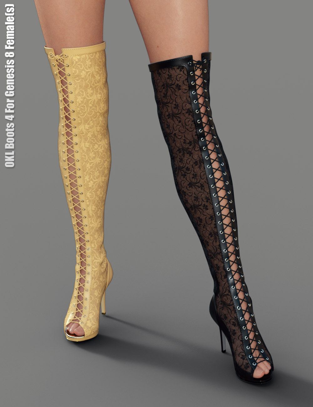 OKL Boots 4 for Genesis 8 Female(s) by: dx30, 3D Models by Daz 3D