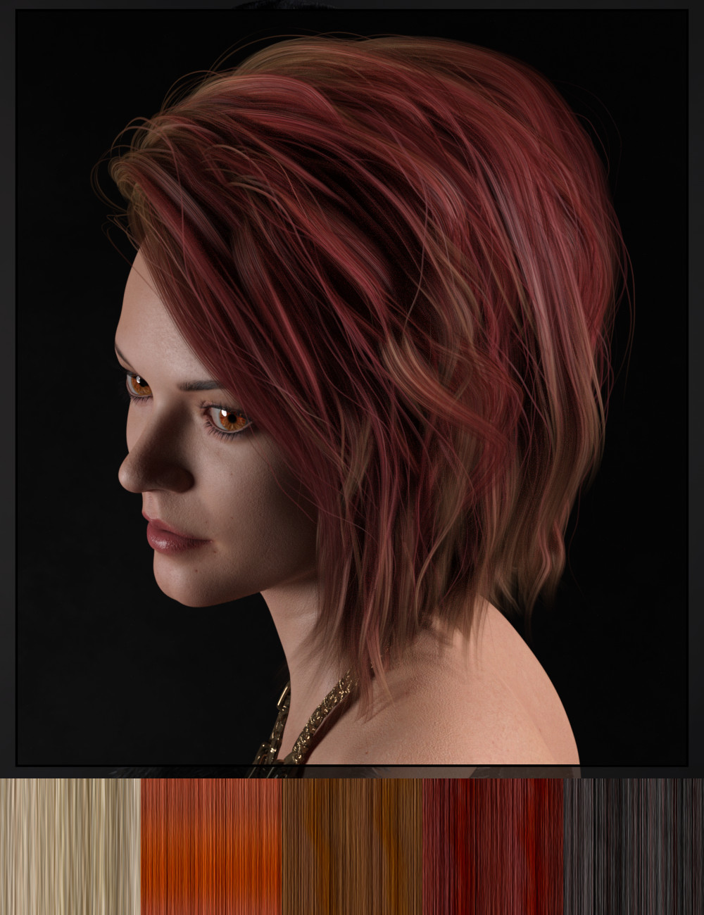 DG Iray 200 Hair Color Shaders and Merchant Resource by: IDG DesignsDestinysGarden, 3D Models by Daz 3D
