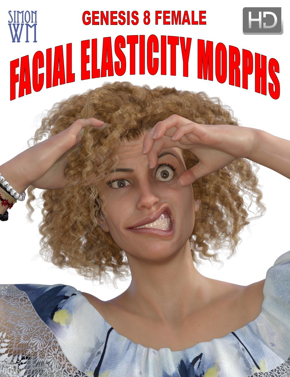 Genesis 8 Female Facial Elasticity Morphs by: SimonWM, 3D Models by Daz 3D