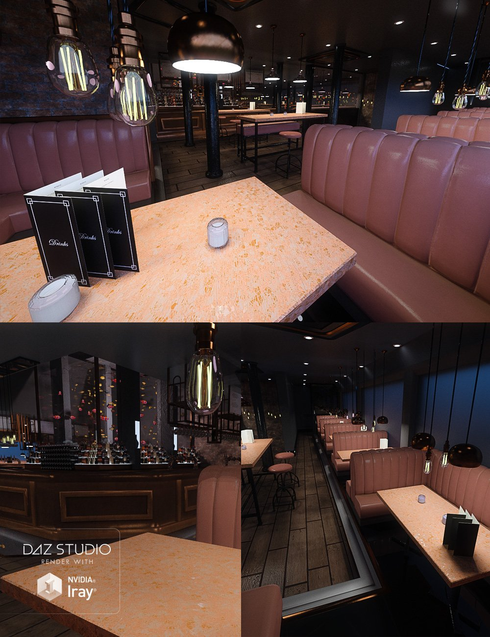 Aquarium Bar by: RazTech, 3D Models by Daz 3D
