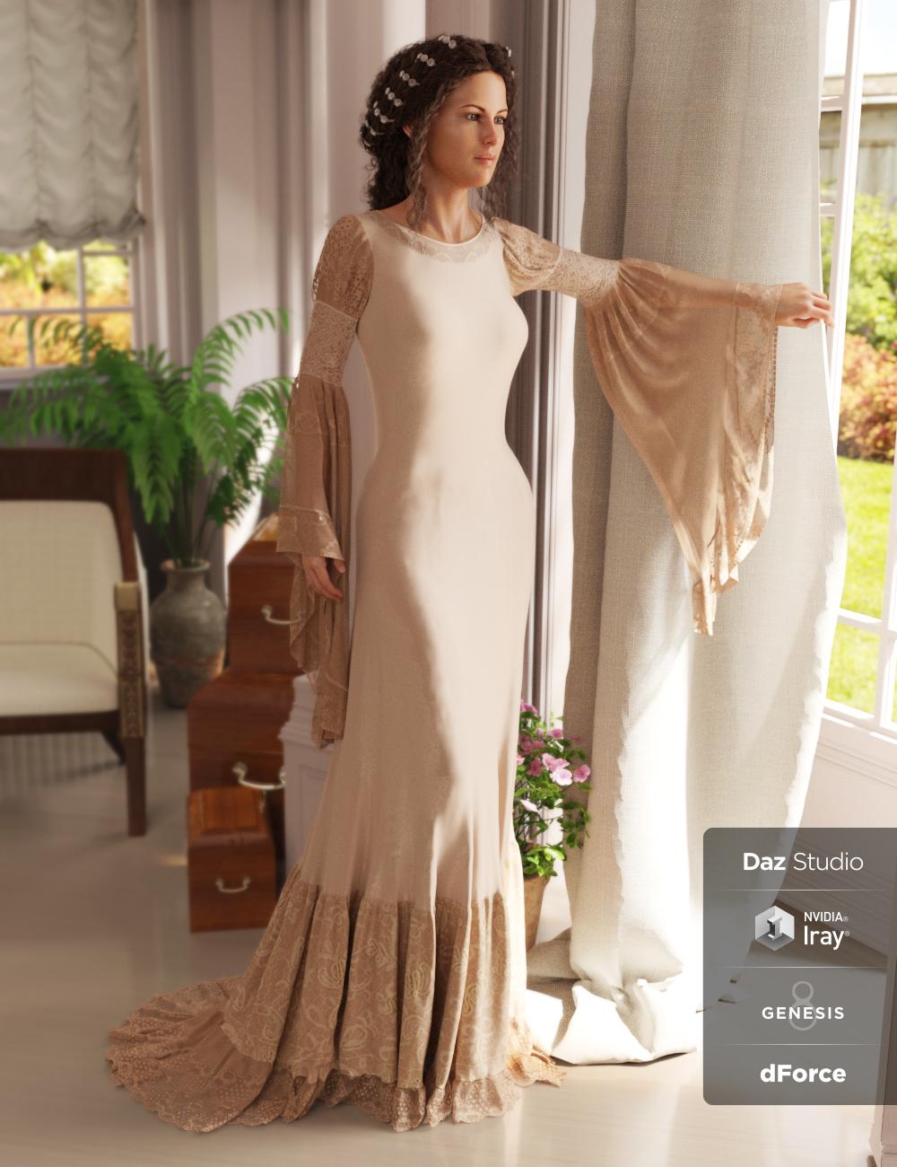 dForce Rochelle Gown for Genesis 8 Female(s) by: PandyGirl, 3D Models by Daz 3D