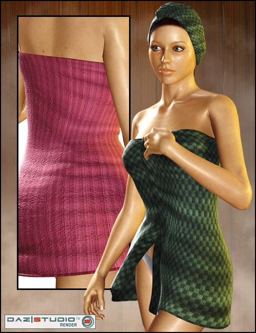 V4 Towel Set by: Xena, 3D Models by Daz 3D