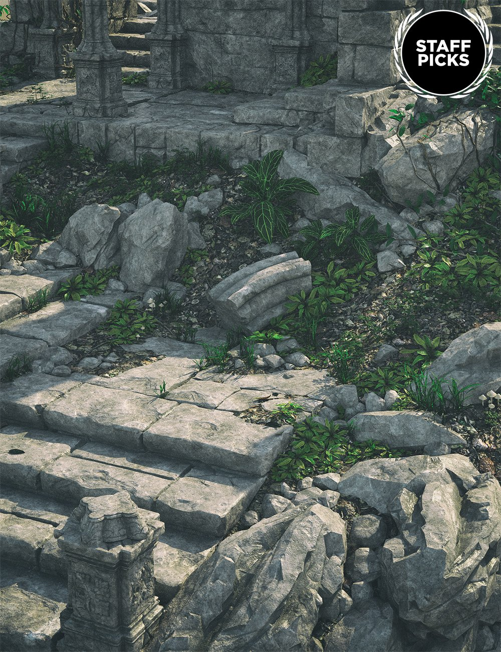 Gothic Ruins 2 by: , 3D Models by Daz 3D