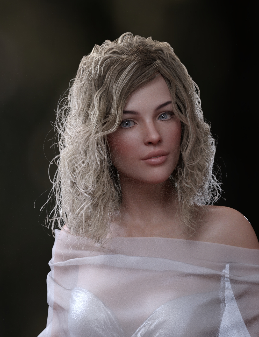 Perfect Wild Curls for Genesis 8 Female(s) by: Neftis3D, 3D Models by Daz 3D
