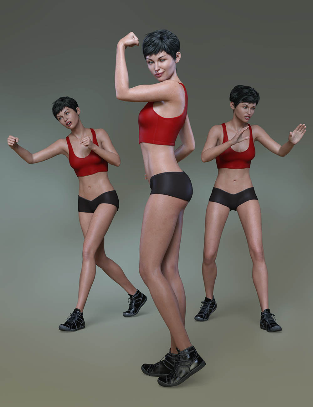 Confident Poses and Expressions for Eva 8 and Genesis 8 Female by: Capsces Digital Ink, 3D Models by Daz 3D