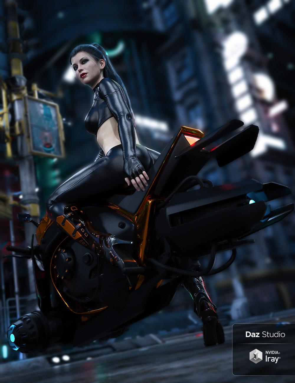 Yamaki Hover Bike by: Ravnheart, 3D Models by Daz 3D