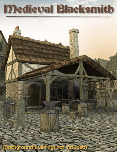 Medieval Blacksmith by: Faveral, 3D Models by Daz 3D
