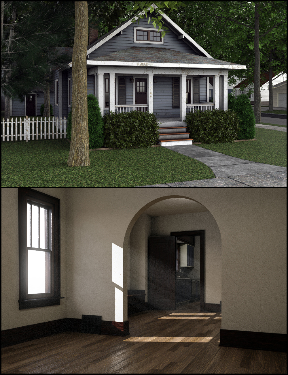 C3D Neighborhood XPack 1 by: Collective3d, 3D Models by Daz 3D