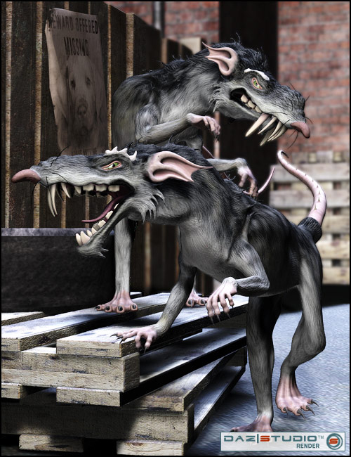 Monster Rat by: , 3D Models by Daz 3D