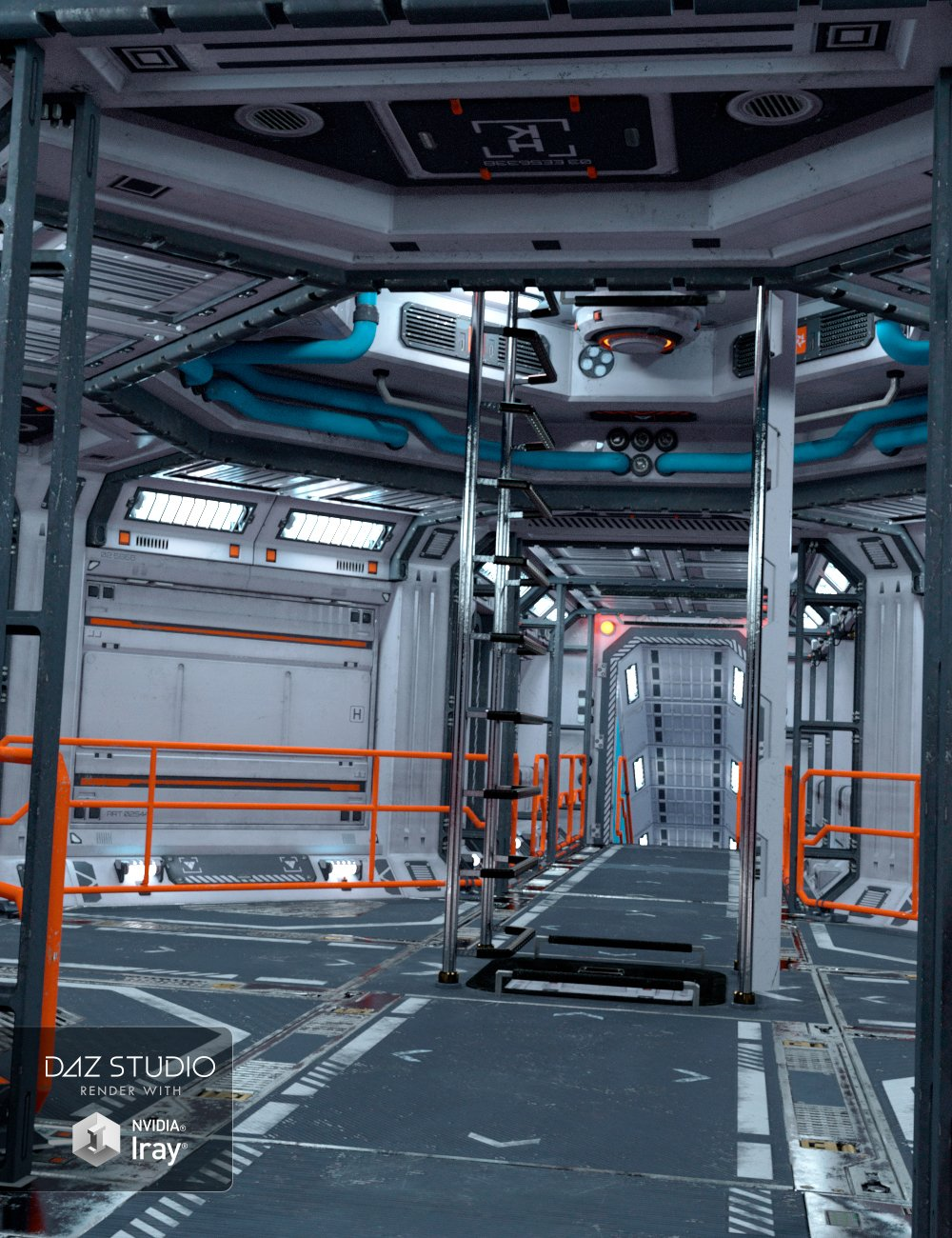 Solaris Corridor by: petipet, 3D Models by Daz 3D