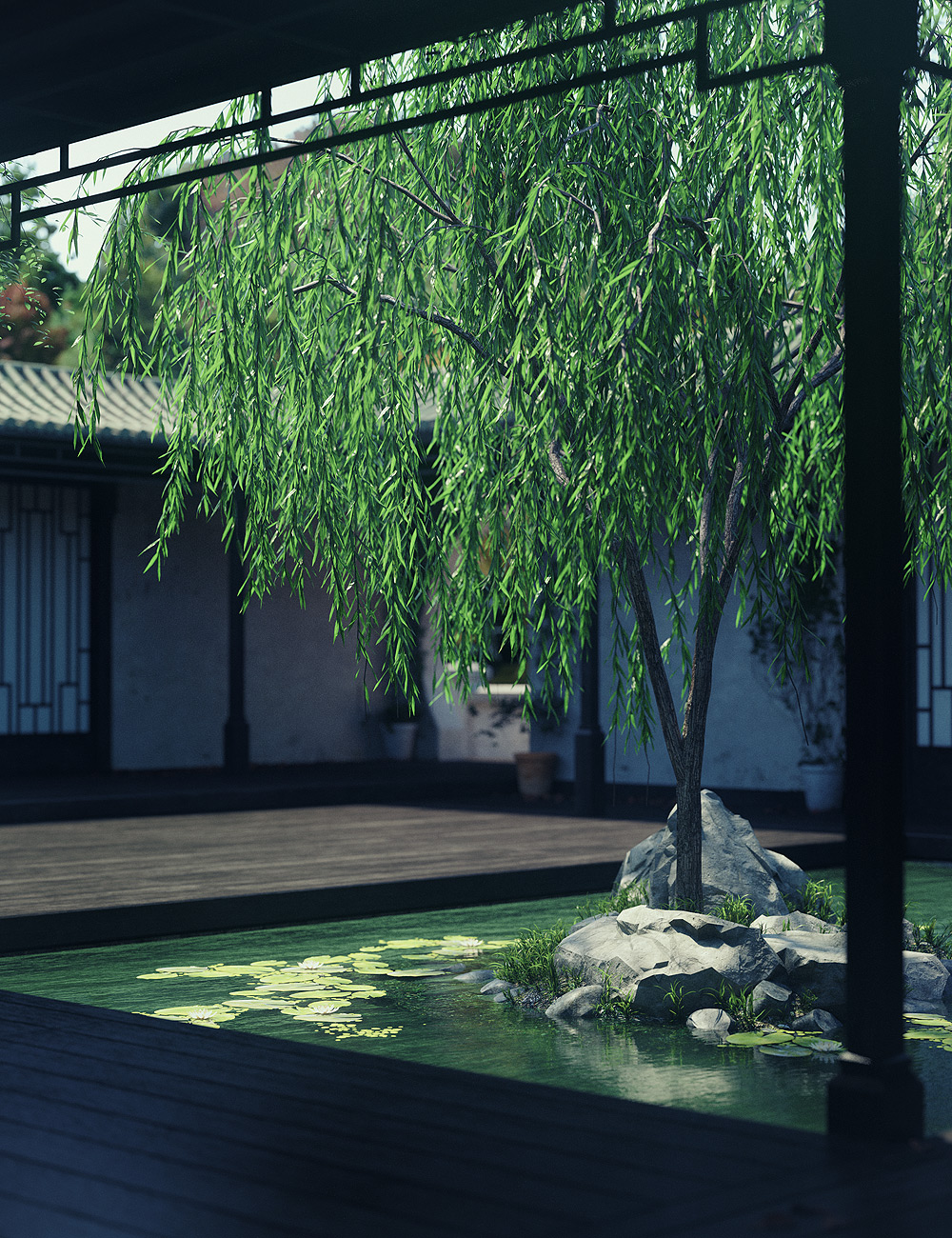 Tranquility Gardens by: Stonemason, 3D Models by Daz 3D