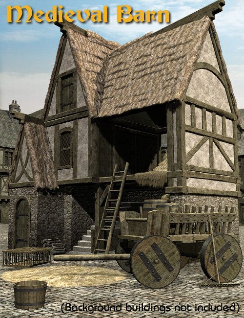 Medieval Barn by: Faveral, 3D Models by Daz 3D