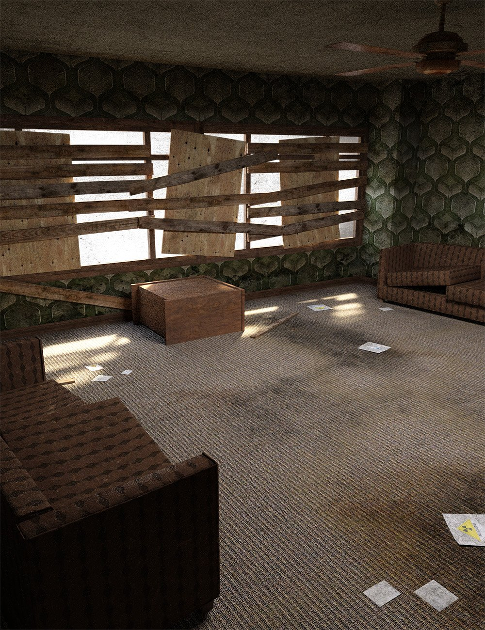 Post Apocalyptic Living Room by: , 3D Models by Daz 3D