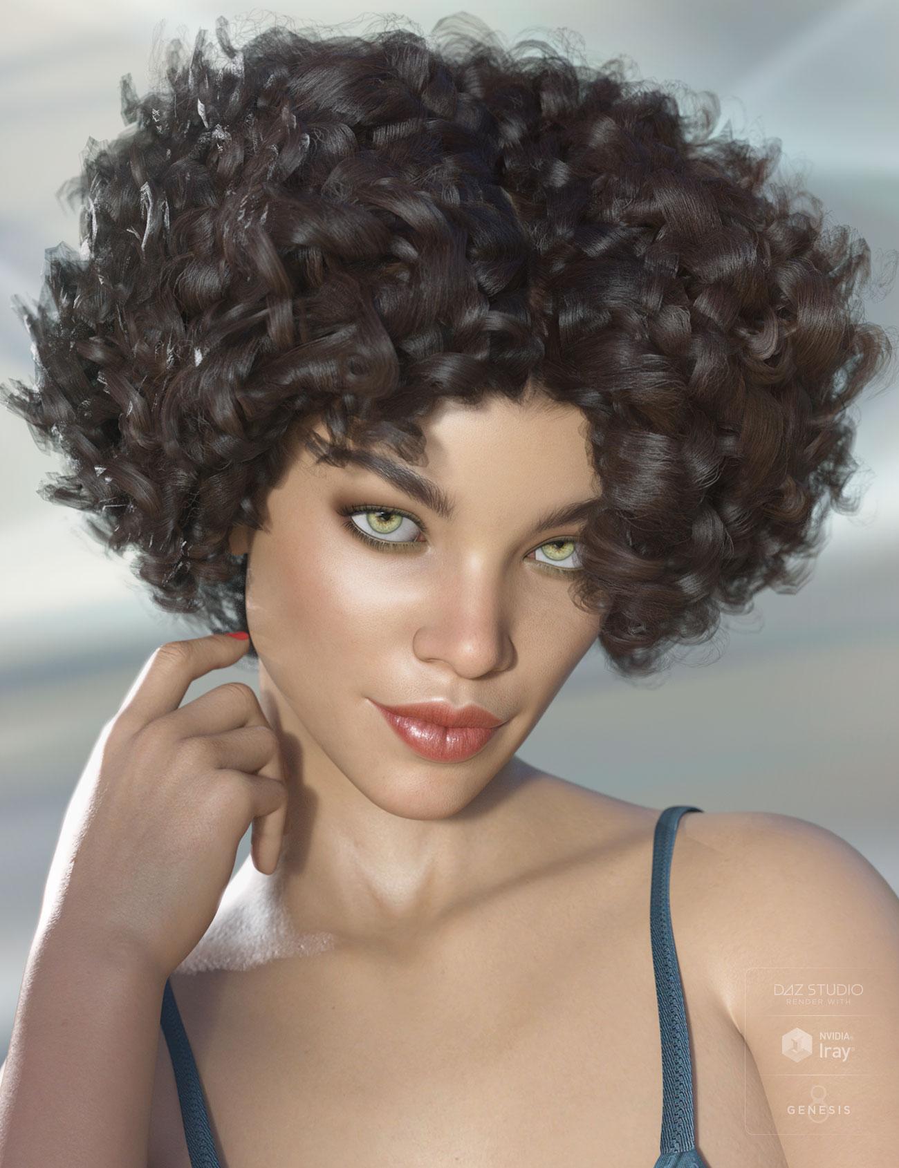 Gizelle Hair for Genesis 3 & 8 Female(s) by: AprilYSH, 3D Models by Daz 3D
