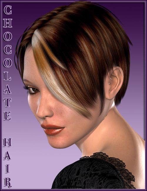 Chocolate Hair by: Valea, 3D Models by Daz 3D